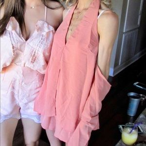 Peach Sabo Skirt Romper
